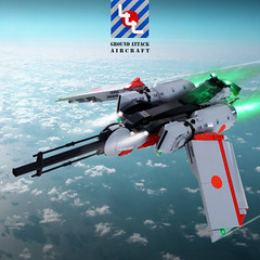LLL - Stratos Jet Fighter - DA3 (Brixnspace) Tags: moc lego spacepolice2 sp2 space police 2 airplane fighter jet plane sky skyscene da3 decisive action
