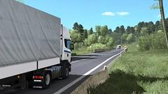 ets2_00019 (Kocaa_009) Tags: scania scaniatrucks scania124l euro3 r4 schmitz schmitzcargobull curtain road sky tree truck trailer windshield