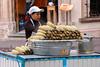 Elotes (pedro katz) Tags: mexico guanajuato corn woman cap vendor table