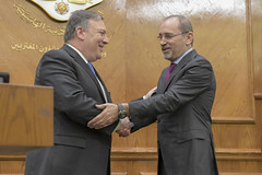 Secretary Pompeo Holds A Joint press availability with Jordanian Foreign Minister Safad (U.S. Department of State) Tags: mikepompeo amman jordan aymansafadi kingabdullahii