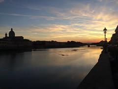 Lungarno, Florence, Italy. (serafinosommario) Tags: viaje travel wanderlust home cityscape city sunset river italia italy firenze florence