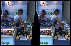 Ice cream booth 3-D / CrossView / Stereoscopy / HDRaw (Stereotron) Tags: streetphotography urban citylife berlin ice cream vegan vegmed icedate eismanufaktur crosseye crossview xview pair freeview sidebyside sbs kreuzblick 3d 3dphoto 3dstereo 3rddimension spatial stereo stereo3d stereophoto stereophotography stereoscopic stereoscopy stereotron threedimensional stereoview stereophotomaker stereophotograph 3dpicture 3dimage twin canon eos 550d yongnuo radio transmitter remote control synchron kitlens 1855mm tonemapping hdr hdri raw availablelight