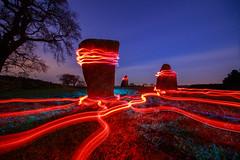 Energy Grid (J C Mills Photography) Tags: lightpainting peakdistrict derbyshire longexposure light trails night landscape megaliths standing stones ninestonesclose irix 11mm