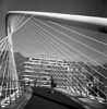 The White Bridge (Gabo Barreto) Tags: bilbao paisvasco basquecountry zubizuri campovolantin puente bridge cables film analoguephotography filmcamera tlr twinlensreflex yashicamat 120 6x6 mediumformat selfdeveloped scannedfromfilm blackandwhite monochrome squareformat