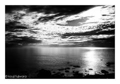 reflection...just before magic hour #3 (kouji fujiwara) Tags: fujifilmxpro2 fujifilm xpro2 fujinon xf23mmf14 xf23mm f14 sea seascape evening dusk sunset fineart fine art seaofjapan reflection monochrome blackandwhite blackwhite moir dark