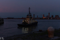 Svitzer Sussex (frisiabonn) Tags: vehicle ship water wirral liverpool england uk britain marine vessel river mersey merseyside sea shore waterfront maritime boat outdoor birkenhead tug tugboat svitzer sussex glow sun dark night dusk