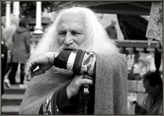 Viking candid (* RICHARD M (Over 7 MILLION VIEWS)) Tags: viking vikings candid street portraits portraiture characters character oldviking streetportraits streetportraiture candidportraits candidportraiture mono blackwhite oldman whitehair longwhitehair whitebeard whitewhiskers seniors legends beards bearded whiskers bewhiskered cloak shawl periodcostumes costumes fancydress wizened history historic culture theatkinson southport sefton merseyside vikingjewellery vikingrings rings jewellery timetraveller wiseman wisdom greatbritain britain england britishisles unitedkingdom uk norse norseman flowingwhitehair whitehairedman whitehairedoldman ancient old bygonetimes nordic legend timespast pasttimes expressions scandinavian serendipity