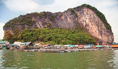 Sea Gipsy Village in Phang Nga Bay (IRRphotography) Tags: phangnga bay koh panyi gipsy sea village houses water green rock forest tropical travel thailand phuket