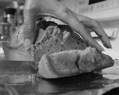 Domesticity (Ron Buening) Tags: beer bread knife hand foil kitchen baked fresh baking