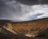 Ubehebe Rain (Kurt Lawson) Tags: california cinder clouds crater death national park rain sediment steam storm ubehebe valley volcanic volcano