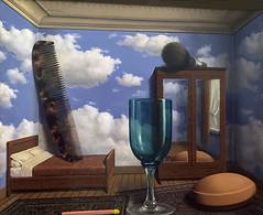 'Personal Values' by Rene Magritte (Greatest Paka Photography) Tags: surrealism surreal painting art artist renemagritte paulnouge sfmoma scale perception disturbingobjectstheory
