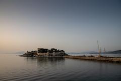 Ottoman castle at sunset (mfatic) Tags: castle waves sunset wall peninsular kuşadası island defense environment boats asiaminor mast sea aydın turkey tr syncerror