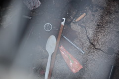 02April2018-SanFrancisco-IMG_6032 (aaron_anderer) Tags: meth heroin spoon junkie sewer waste needle drugs gross sanfrancisco california sfbay sf bayarea