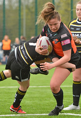 Hair Raising Moment (Feversham Media) Tags: yorkcityknightsladiesrlfc castlefordtigerswomenrlfc amateurrugbyleague womenssuperleague rugbyleague york yorkstjohnuniversity northyorkshire yorkshire sportsaction