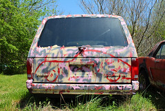 Colorful Caravan (Todd Evans) Tags: canon t6 dodge caravan minivan efs1855mmf3556isii van paint oldcarcity