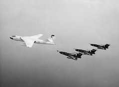 64 Squadron Javelin FAW9's and a 90 Squadron Valiant BK1  taken in 1963 (kerrydavidtaylor) Tags: