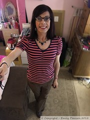 April 2018 - casual outfit at home (Girly Emily) Tags: crossdresser cd tv tvchix tranny trans transvestite transsexual tgirl tgirls convincing feminine girly cute pretty sexy transgender boytogirl mtf maletofemale xdresser gurl glasses jeans top highheels indoor ankleboots