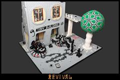 Revival (Sheo.) Tags: lego moc scifi robot tank tree postapoc ruins