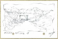 Wolfram Zimmer: Drawing while walking - Zeichnen im Gehen (ein_quadratmeter) Tags: wolframzimmer kunst konzeptkunst objektkunst meinzimmer meinezimmer freiburg burg kirchzarten ausstellung ausstellungen exhibition exhibitions malerei aus der palette painting zu fus malen zeichnen foot drawing
