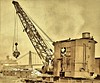 Magnetic crane Brownhoist Type F employed at Clinton Iron and Steel plant Pittsburg, PA [Point bridge in background] 1918 NARA165-WW-546A-136 (SSAVE over 10 MILLION views THX) Tags: shovels cranes derricks dragline 1918 ww1 worldwari contructionequipment pittsburghpa steelmill clintonironandsteelcompany brownhoistmagneticcrane modelf pointbridge wwlawrenceandcompany paintfactory steam