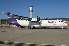 N804FX FedEx Feeder ATR-72-212F in CLE (GeorgeM757) Tags: n804fx atr72212f aerospatiale turboprop aircraft alltypesoftransport aviation airport airfreight cargo canon kcle clevelandhopkins georgem757 n634as