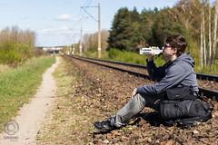 Telegraph Road (mkarwowski) Tags: bokeh outdoor railroad people portrait selfportrait canon eos 80d canoneos80d eos80d ef50mmf18stm canonef50mmf18stm man traveler vagabond