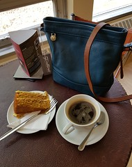 2018 0425 505 (SGS8+) Yeovil; Pittards factory shop cafe; Lucy's new bag (Lucy Melford) Tags: samsunggalaxys8 pittards leather bag yeovil factory shop cafe