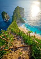 Start Walking! (dannygreyton) Tags: beach sunset ocean indonesia bali nusapenida kelingkingbeach fujifilmxt2 fujifilmxseries fujinon1024mm nature climb hike hiking