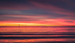 Fire in the sky and in the water (BTAdelaide) Tags: sunset sunlight ocean goldenhour bluehour australia autumn beautiful seascape southaustralia landscape landscapephotography fujifilmxt2