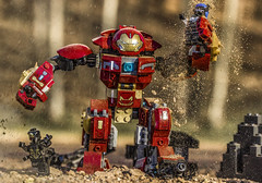 Hulkbuster attack! (Lego_LUTs) Tags: green purple red takodana yellow blue storm trooper star wars war lego outdoors clone troopers first order blasters afol minifigs minifigures bricks blocks canon toy toys force legos t3i republic people photoadd atst death rogue one dirt practical effects orange 60mm darth maul battlefront tree 7th sky corps snow road captain rex marvel america iron falcon winter solder avengers infinity wakanda hulk black widow