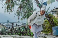 Spurn (sakthi vinodhini) Tags: nepal abc gangdruk trek backpack portrait elder villager village asia himalayas buddhist street