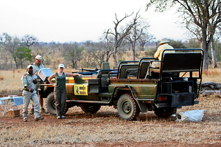 Graham,Our Mala Mala Main Camp Guide, wrapping up Sundowner time  on Our National Geographic Expeditions