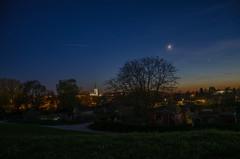 One night in Bamberg (peter-goettlich) Tags: bamberg nacht kirche mond