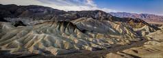 Zabriskie Point, Death Valley (Candice Staver Harris) Tags: hot dry landscape erosion california nature scenic barren extremeterrain desert mountainrange panoramic nationalpark deathvalley badlands zabriskiepoint
