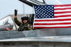 CF18 in America Tribute (tspottr723) Tags: andre eckhardt slogr cf18 hornet canadian airforce usaf nj new jersey power pines mcguire afb nikon d500 tamron 150600 jet military aviation american flag canada fighter stars stripes andrew