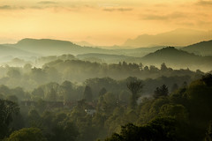 Sunrise@Switzerland (Rita Eberle-Wessner) Tags: switzerland schweiz sunrise sonnenaufgang morning morgen landschaft landscape berge mountains gebirge alpen alps bäume trees häuser houses nebel morgennebel dust fog morningfog bern