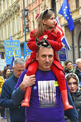 Riding high (davidsharp159) Tags: leeds brexit march 2018 street streetscene streetpeople streetphotography streetshot streetscenes protest people antibrexit
