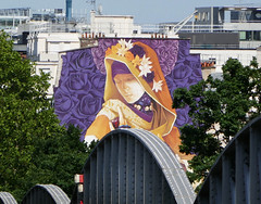 Veiled woman among roses - mural seen from the Nationale Métro station, Paris (Monceau) Tags: wall mural veiled woman purple roses arches métro nationale paris 13tharr 138365 365picturesin2018 painting apartmentbuilding 365the2018edition 3652018 day138365 18may18