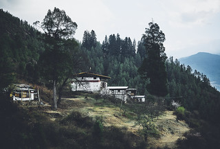 Bhutan: Farmhouses.