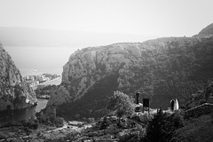 Special Day! (laurilehtophotography) Tags: croatia omis coastal sea wedding nature landscape mountains river hill view amazing europe nikon d750 tamron 2470mm cliffs summer travel vacation holiday photo trip blacandwhite bw