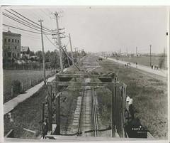 FOOTE - Looking down the traintracks on Portage Avenue, 1919 (vintage.winnipeg) Tags: winnipeg manitoba canada vintage history historic lbfoote