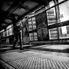flatform on a sunny day (Le Xuan-Cung) Tags: flatform onasunnyday newbrunswick middlesexcounty newjersey usa streetphotography sw bw nb streetlife streetshots streetscene blackandwhite noiretblanc lonely livinginnewjersey livinginusa