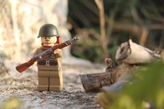 Lost in the woods... (Lego@rt) Tags: lego ww2 soviet russian brickarms war soldier unitedbrickskrieg