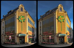 Kinderkaufhaus, Reichenbach 3-D / CrossEye / Stereoscopy (Stereotron) Tags: saxony sachsen reichenbach vogtland 08468 europe germany deutschland architecture kinderkaufhaus amgraben crosseye crossview xview pair freeview sidebyside sbs kreuzblick 3d 3dphoto 3dstereo 3rddimension spatial stereo stereo3d stereophoto stereophotography stereoscopic stereoscopy stereotron threedimensional stereoview stereophotomaker stereophotograph 3dpicture 3dimage hyperstereo twin canon eos 550d yongnuo radio transmitter remote control synchron kitlens 1855mm tonemapping