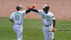 Manny Machado, Adam Jones (Keith Allison) Tags: mlb baseball orioleparkatcamdenyards mannymachado adamjones baltimoreorioles
