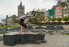 Leaning Tower of Cologne (Ernst_P.) Tags: deu deutschland köln nordrheinwestfalen calisthenics sport streetworkout handstand sigma 24105mm f40