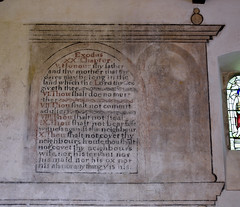 Stokesay, Shropshire, St. John the baptist, commandments 5-10 (groenling) Tags: stokesay shropshire salop england britain greatbritain gb uk stjohnthebaptist mural text commandments 10commandments tencommandments aaron francis