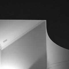 Ceiling Squared (Padmacara) Tags: ceiling night g11 shadowlight geometry bw monochrome square