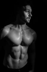Jack R McF (Mark Sands-Foy) Tags: blackandwhite physique fitness portrait model