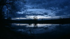 Sunset (Khuroshvili Ilya) Tags: timelapse outdoor istra river reflection clouds tree sky silhouette